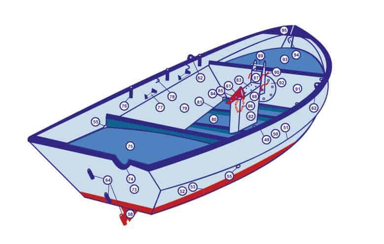 Casco lelievlet onderdelen schip